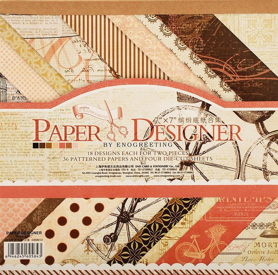 Набор бумаги для скрапбукинга Белоснежка  Романтика , 17,5 x 17,5 см, 36 листов -  Бумага и картон