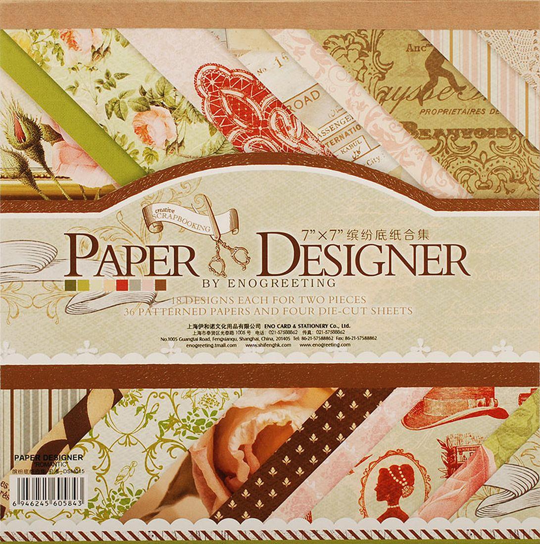 Набор бумаги для скрапбукинга Белоснежка  Французское путешествие , 17,5 x 17,5 см, 36 листов -  Бумага и картон