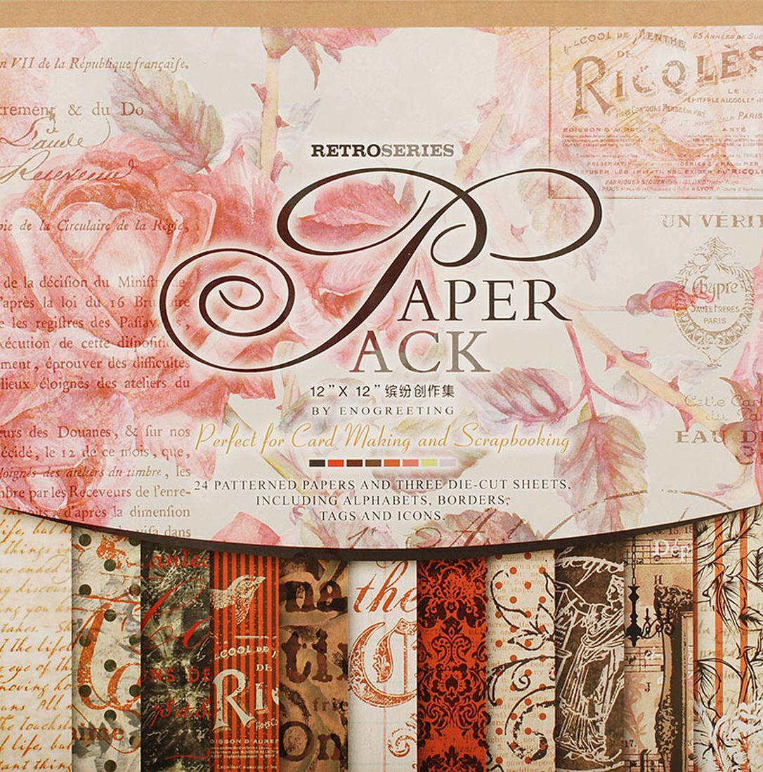 Набор бумаги для скрапбукинга Белоснежка  Королевские розы , 30,5 x 30,5 см, 24 листа -  Бумага и картон