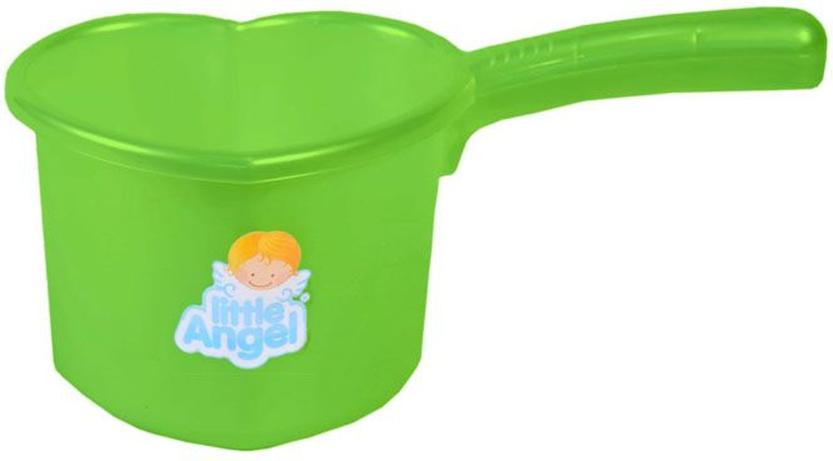 Little Angel Ковшик для детской ванночки цвет салатовый -  Все для купания
