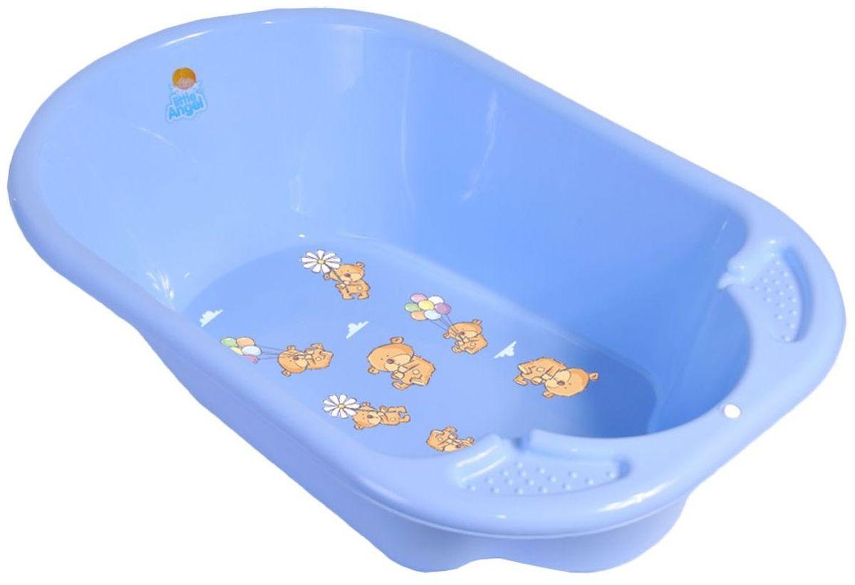 Little Angel Ванна детская Дельфин Bears цвет голубой -  Все для купания