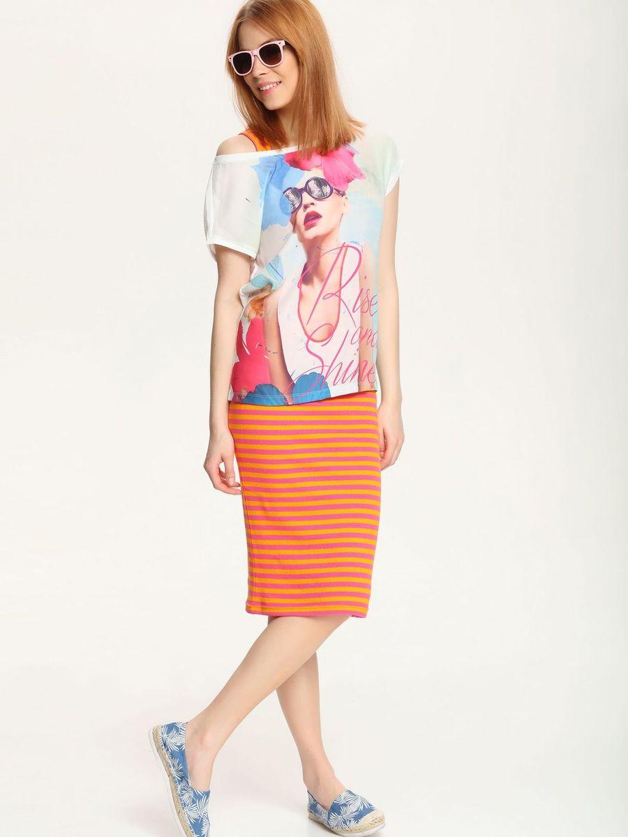 Фото Блузка женская Troll, цвет: белый, мультиколор. TBK0061BI. Размер XL (50). Купить  в РФ