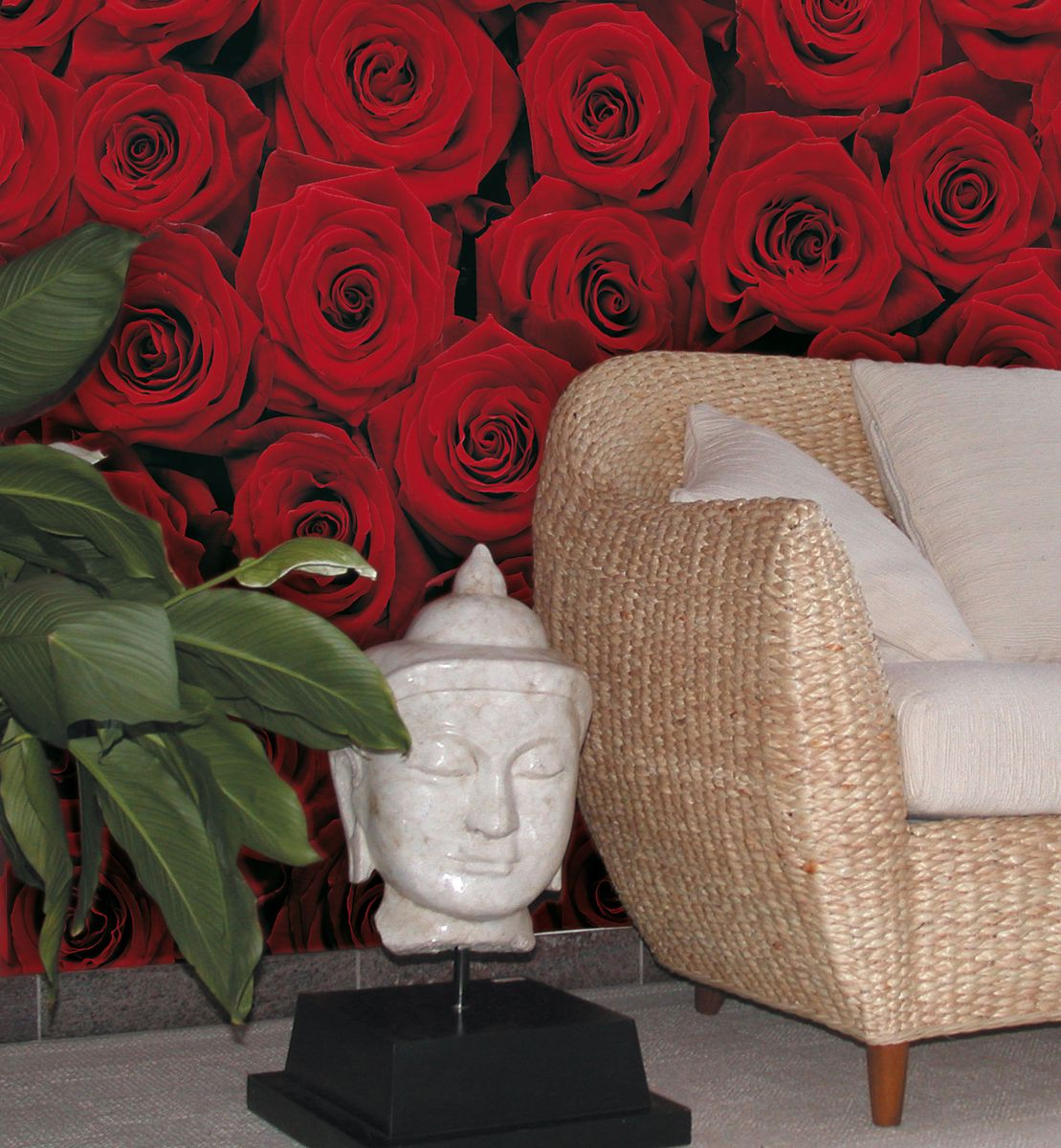Фотообои роза в интерьере фото