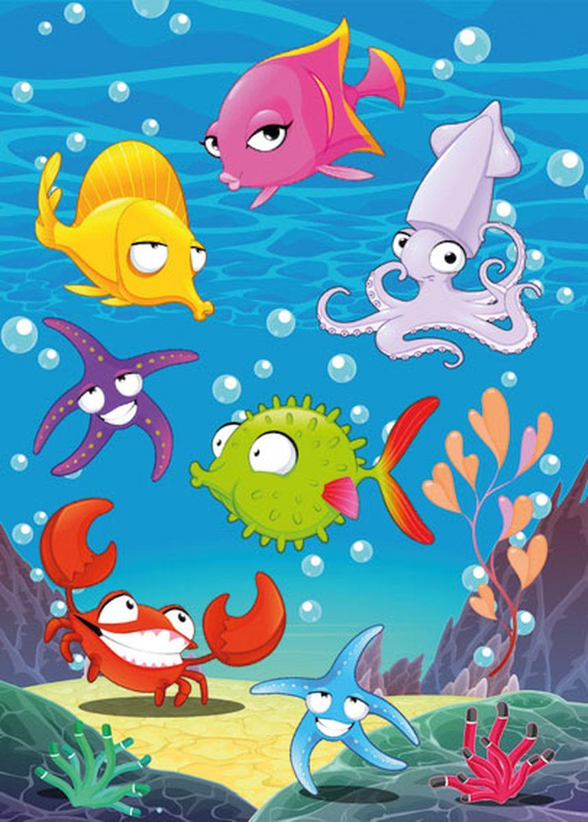 Herma Наклейки Magic Морские обитатели -  Детская комната