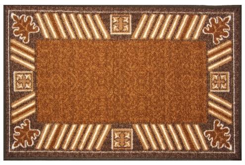 """Фото Коврик для ванной MAC Carpet """"Розетта"""", цвет: коричневый, 44 х 70 см. Купить  в РФ"""