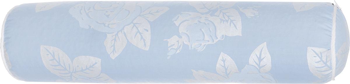 """Фото Подушка-валик """"Smart Textile"""", наполнитель: лузга гречихи, цвет: голубой, 40 х 10 см. Купить  в РФ"""