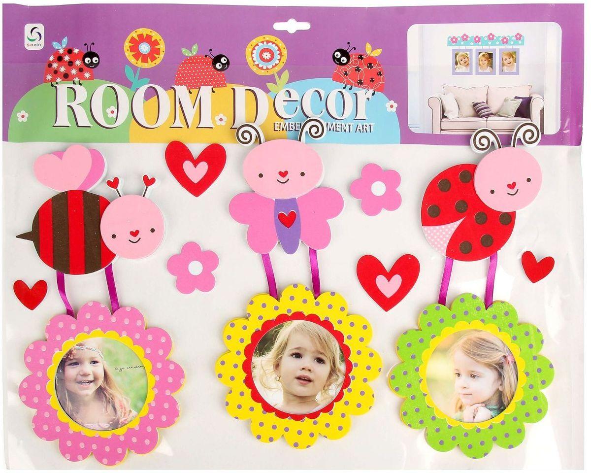 Room Decor Наклейка-фоторамка интерьерная Насекомые 59,5 х 40 см -  Детская комната