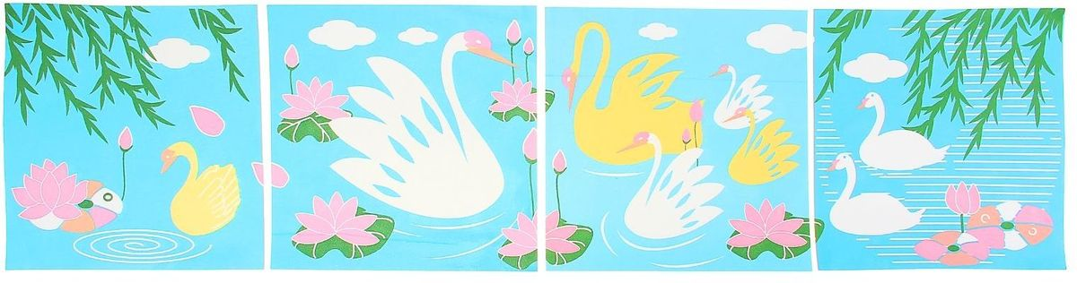 Room Decor Наклейка интерьерная Лебеди 4 шт -  Детская комната