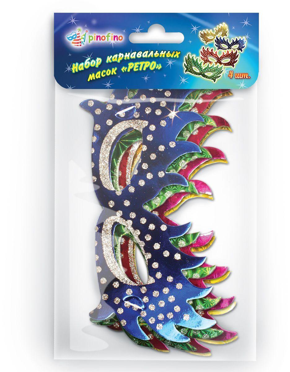 Pinofino Набор каранвальных масок Ретро 4 шт PF0117 -  Маски карнавальные