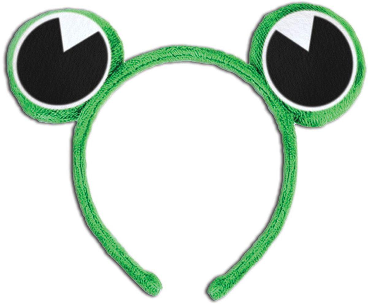 Partymania Ободок детский Веселые зверята Лягушка -  Аксессуры для карнавальных костюмов