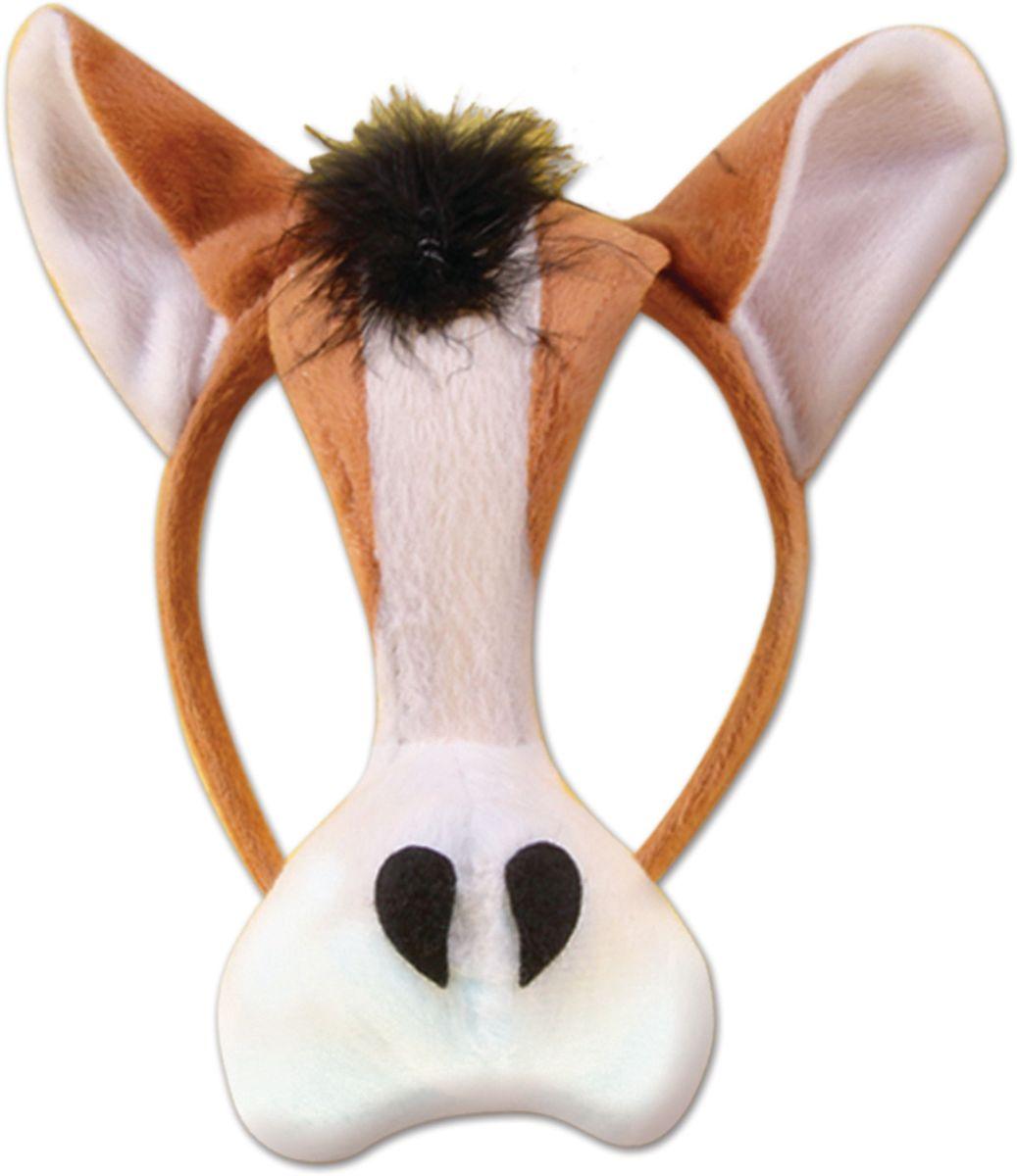 Partymania Маска карнавальная детская Корова со звуком -  Маски карнавальные