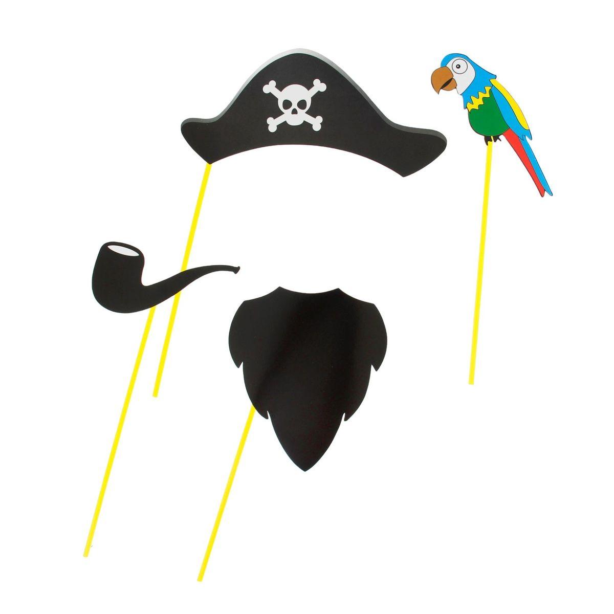 Набор для фотосессии Страна Карнавалия  Пират , 4 предмета. 1019773 -  Карнавальные костюмы и аксессуары