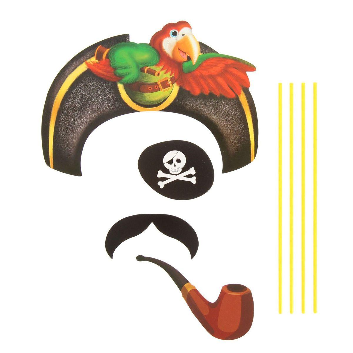 Карнавальный набор для фотосессии Страна Карнавалия  Бравый пират , 4 предмета. 1090267 -  Карнавальные костюмы и аксессуары
