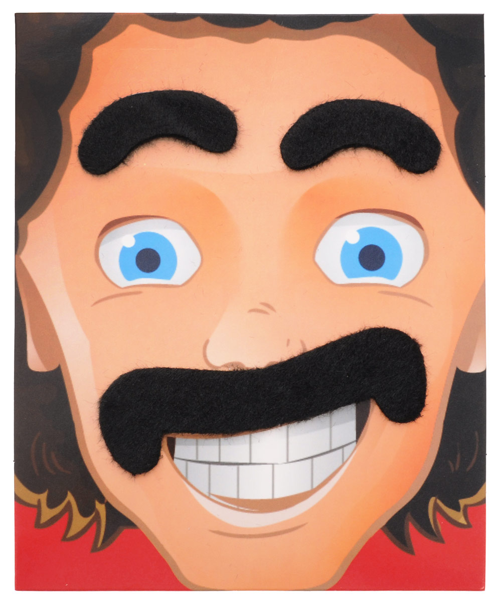 Partymania Карнавальный набор Брови и усы цвет черный -  Аксессуры для карнавальных костюмов