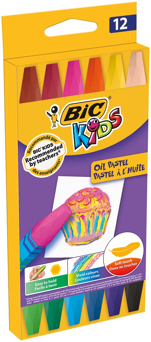 Bic Пастель масляная Kids 12 цветов -  Мелки и пастель