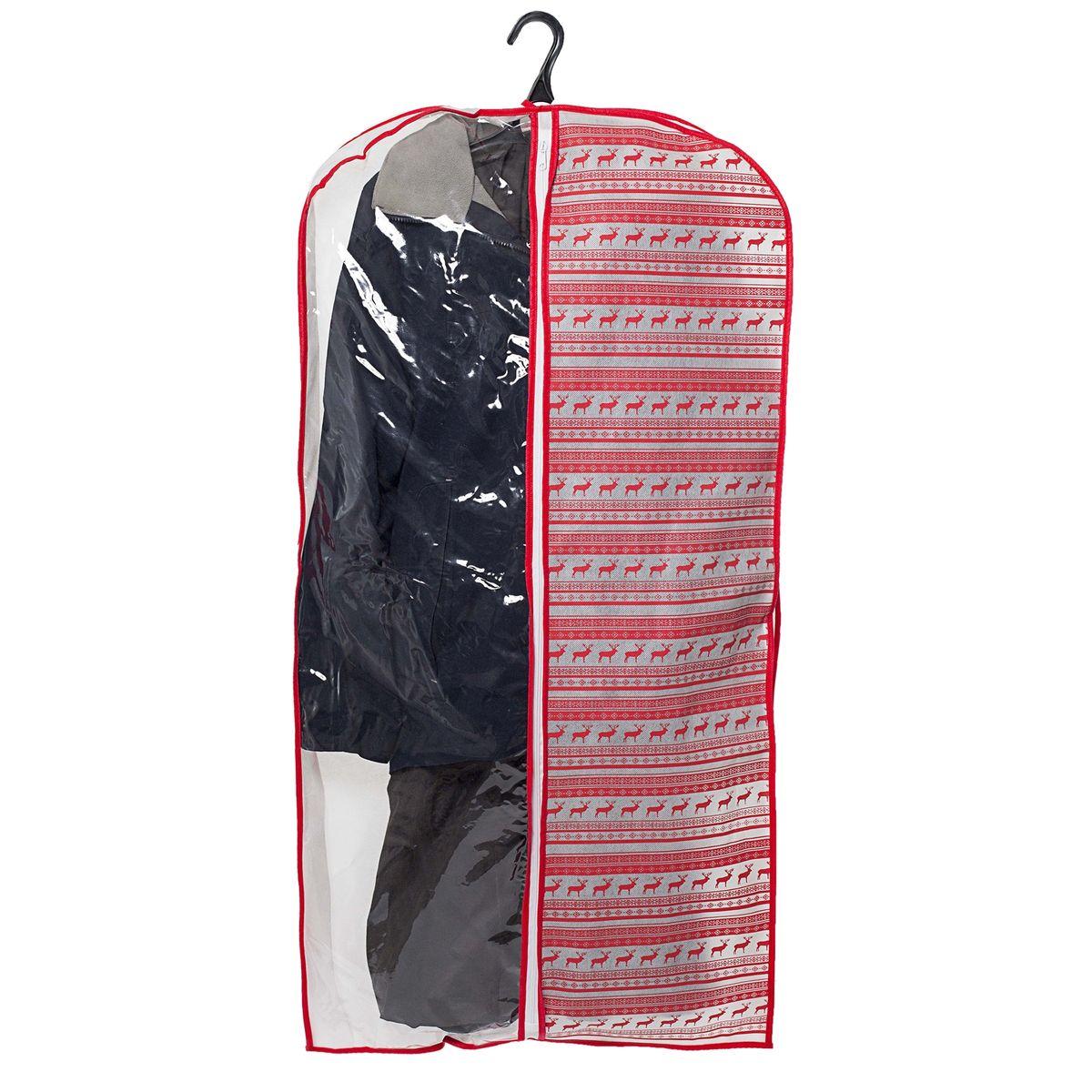 """Фото Чехол для одежды Homsu """"Scandinavia"""", подвесной, с прозрачной вставкой, 120 x 60 x 10 см. Купить  в РФ"""