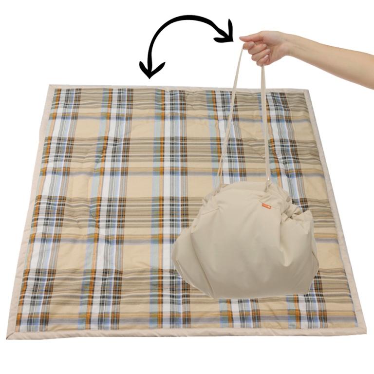 Чудо-Чадо Переносной коврик-сумка цвет бежевый клетка -  Сумки для мам