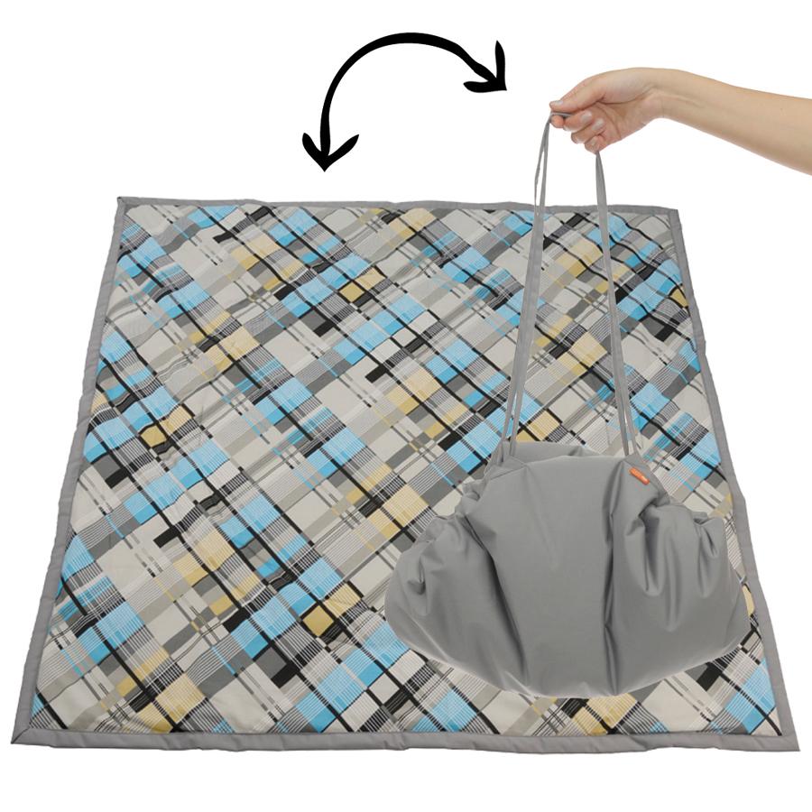 Чудо-Чадо Переносной коврик-сумка цвет серый клетка -  Сумки для мам