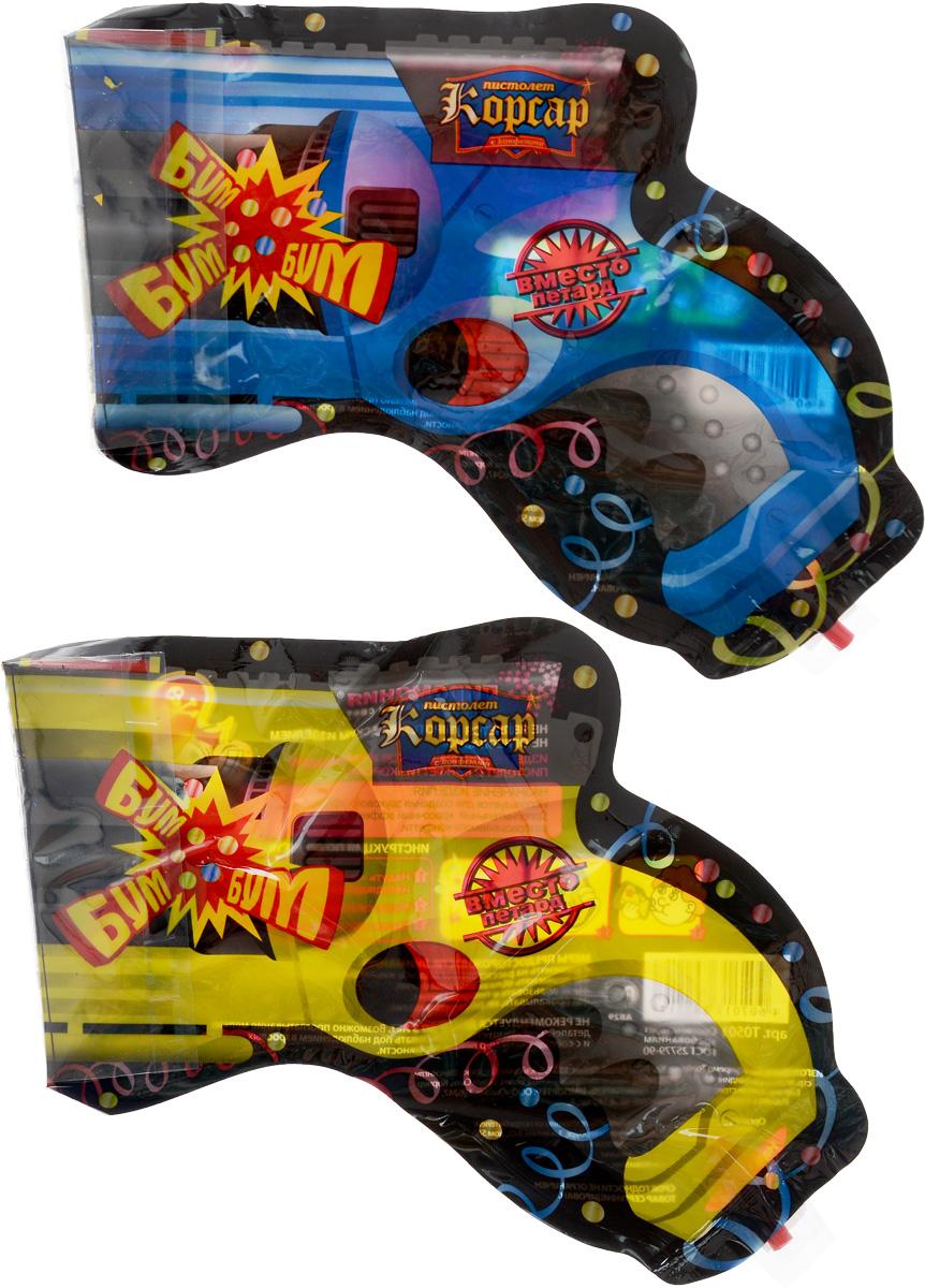 Partymania Надувной пистолет с выстрелом конфетти Корсар 2 шт T0501 -  Хлопушки бумфети