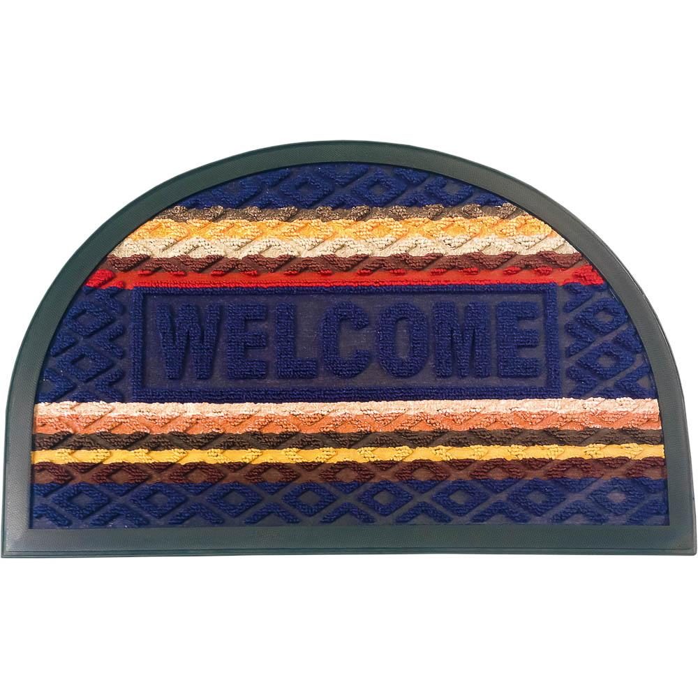 """Фото Коврик придверный Vortex Comfort """"Welcome"""", цвет: синий, 40 х 60 см. Купить  в РФ"""