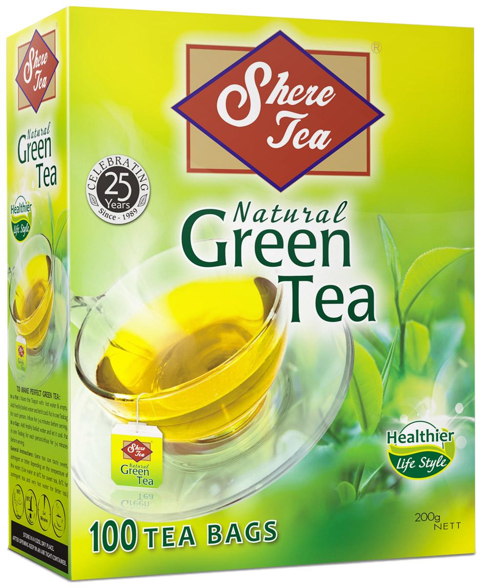 Фото Shere Tea чай зеленый в пакетиках, 100 шт. Купить  в РФ