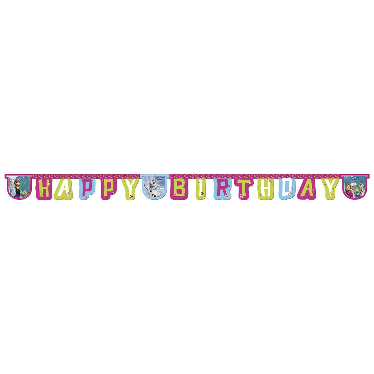 Procos Гирлянда-буквы Happy Birthday Холодное сердце -  Гирлянды и подвески