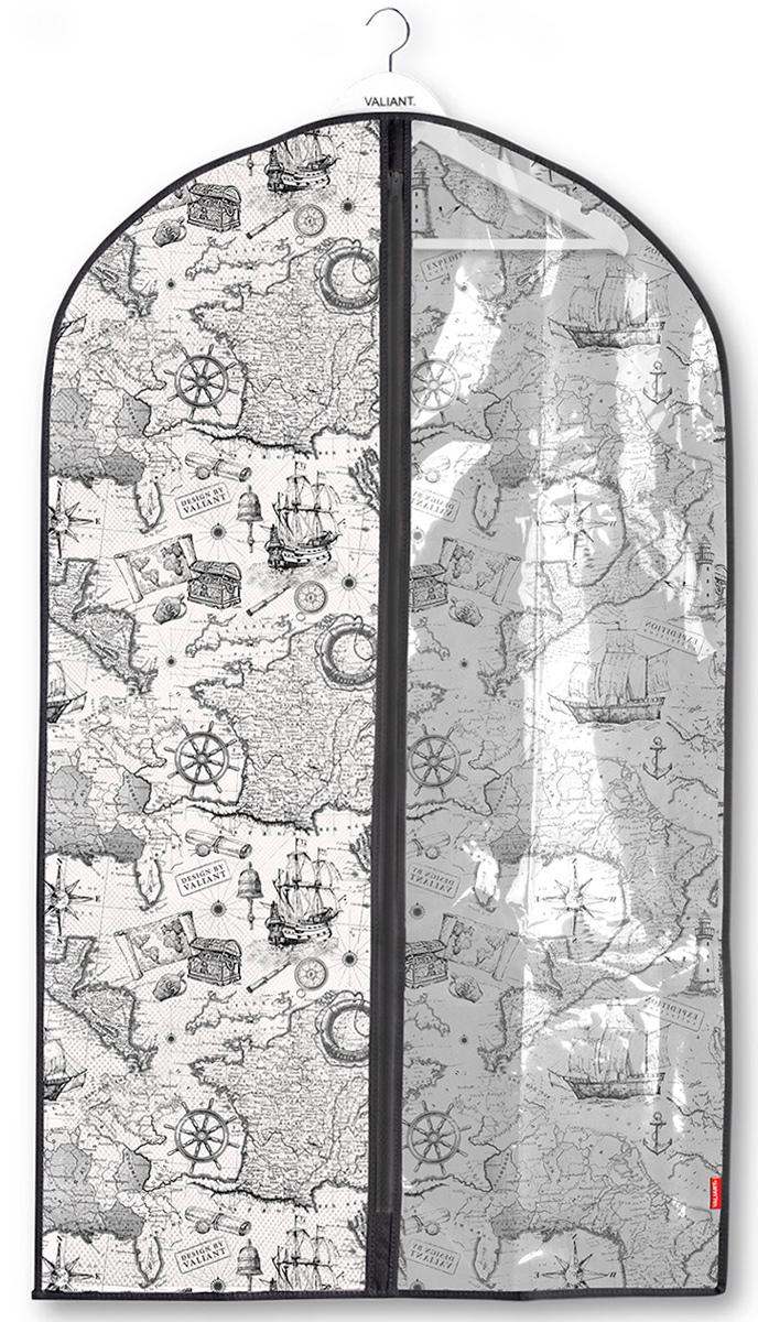 """Фото Чехол для одежды Valiant """"Expedition"""", с прозрачной вставкой, 60 х 100 см. Купить  в РФ"""