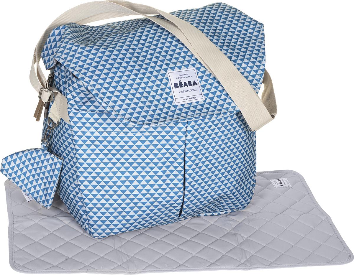 Beaba Сумка для мамы Changing Bag Vienna Ii цвет синий серый