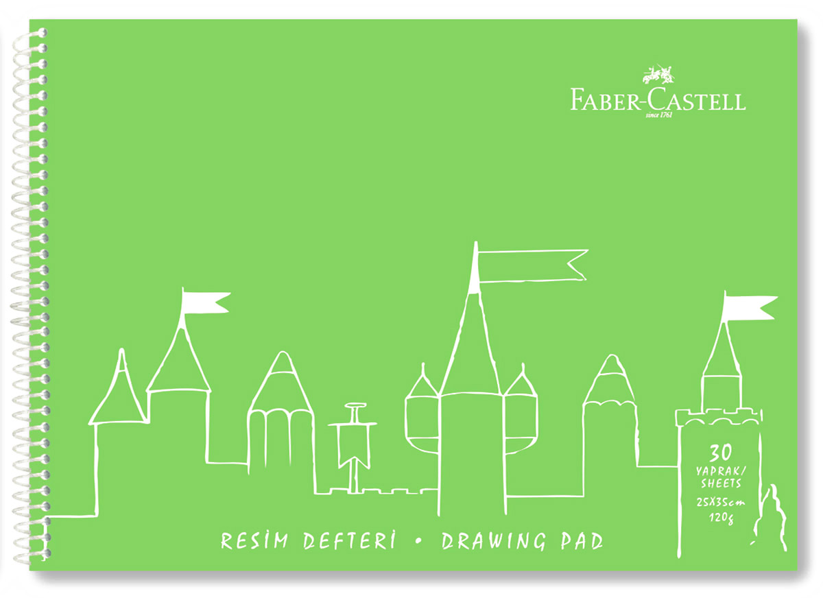Фото Faber-Castell Блокнот для рисования 30 листов цвет салатовый. Купить  в РФ