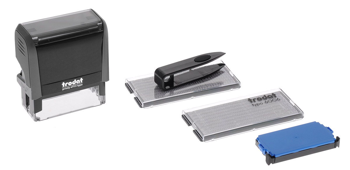 Trodat Штамп самонаборный пятистрочный 58 мм х 22 мм -  Печати, штампы