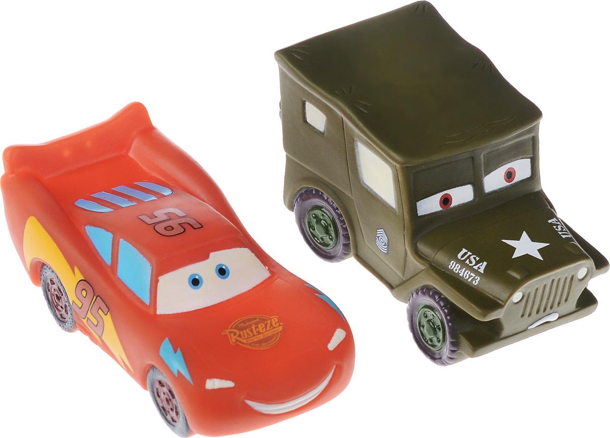 Фото Играем вместе Набор игрушек для ванной Тачки цвет хаки красный 2 шт. Купить  в РФ