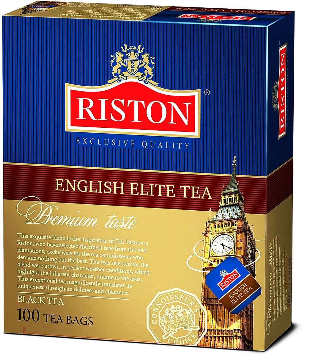Фото Riston Элитный Английский черный чай в пакетиках, 100 шт. Купить  в РФ