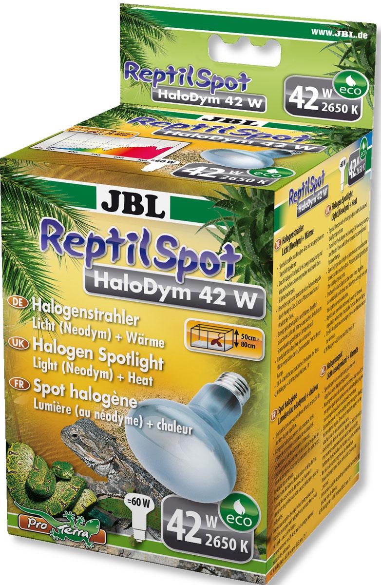Галогеновая неодимовая лампа JBL  ReptilSpot HaloDym , для освещения и обогрева террариума, 42 Вт