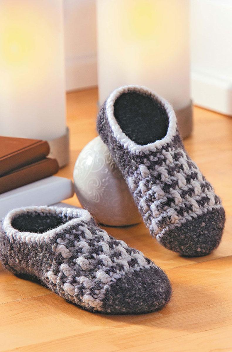 Мое вязание домашняя обувь