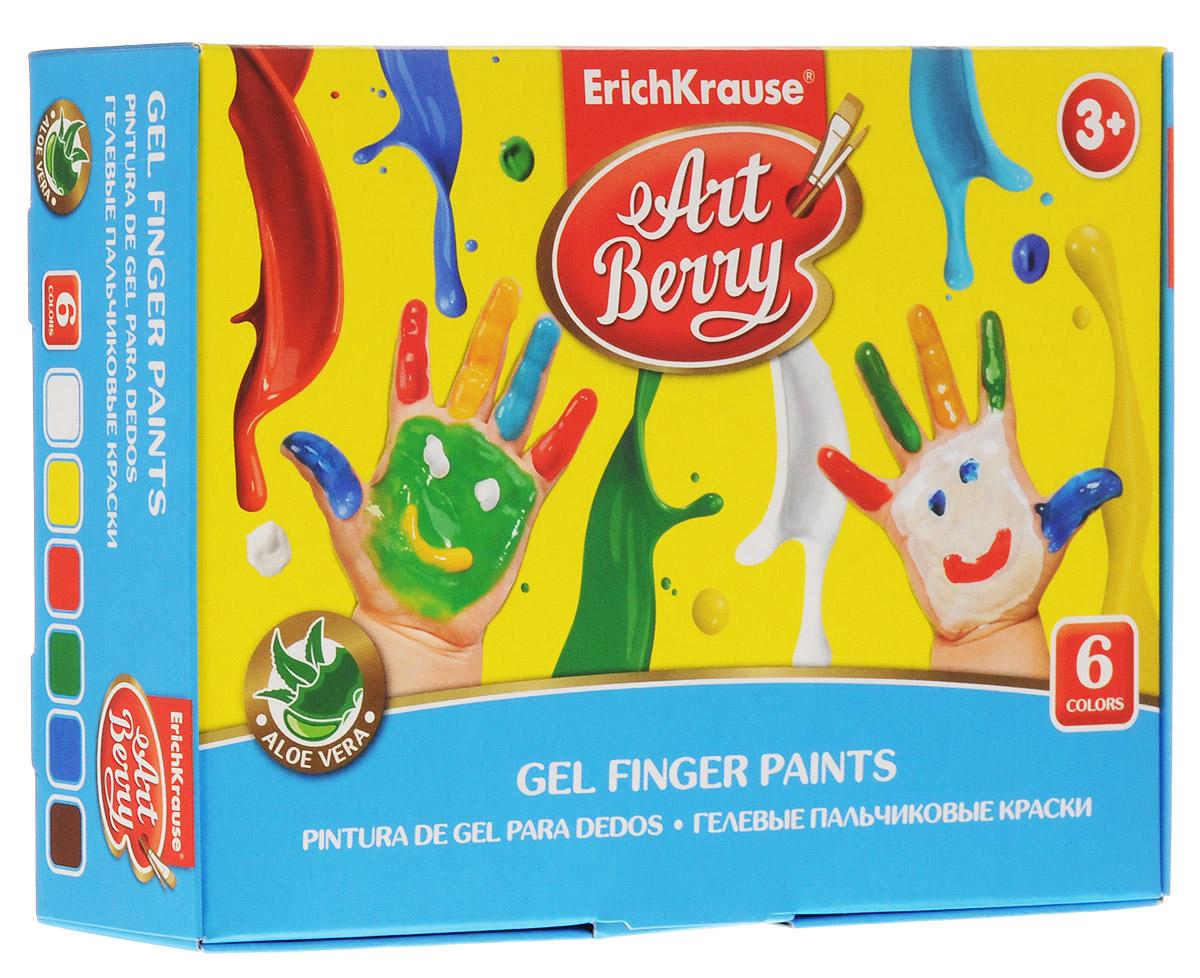 Фото Erich Krause Краска пальчиковая ArtBerry 6 цветов. Купить  в РФ