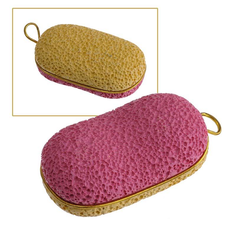 Фото Zinger Пемза педикюрная двухсторонняя из искусственного камня zo-PB-07, цвет: желтый, розовый. Купить  в РФ