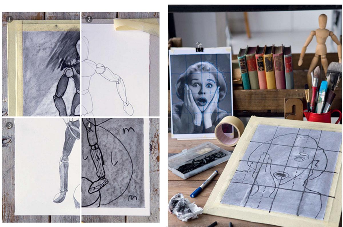 Начинающий художник учится рисовать