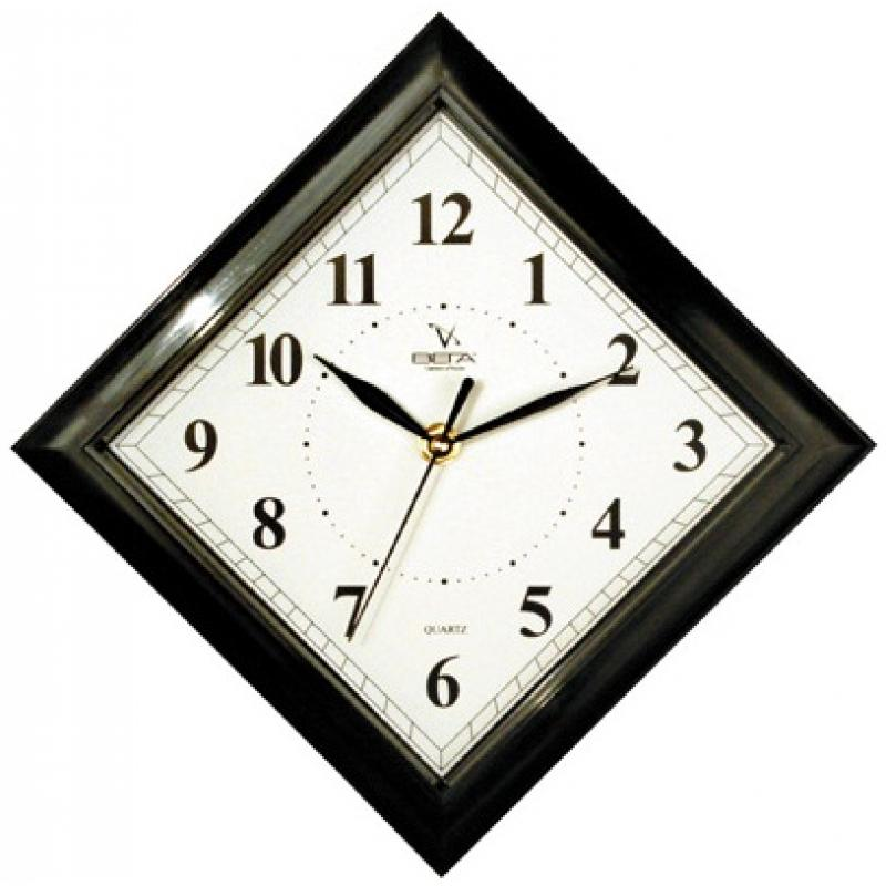 """Фото Часы настенные Вега """"Классика. Ромб в черном"""", цвет: черный. Купить  в РФ"""