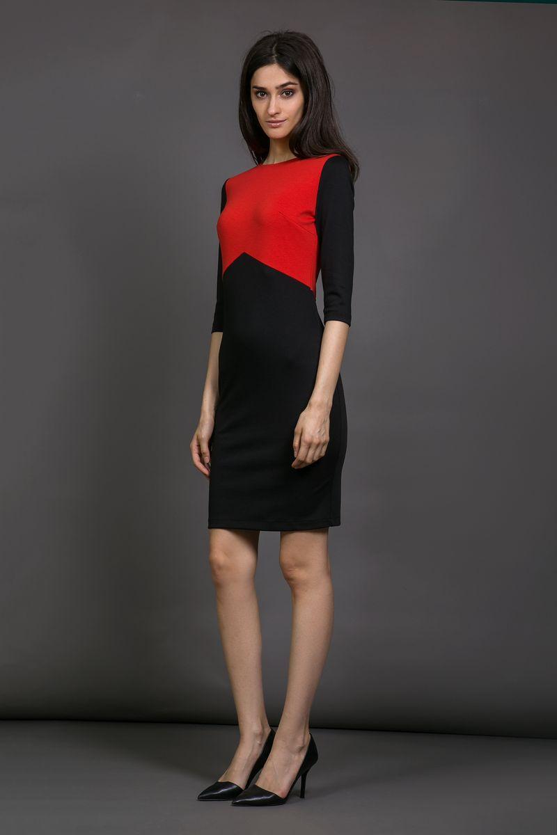 Черное платье красные аксессуары
