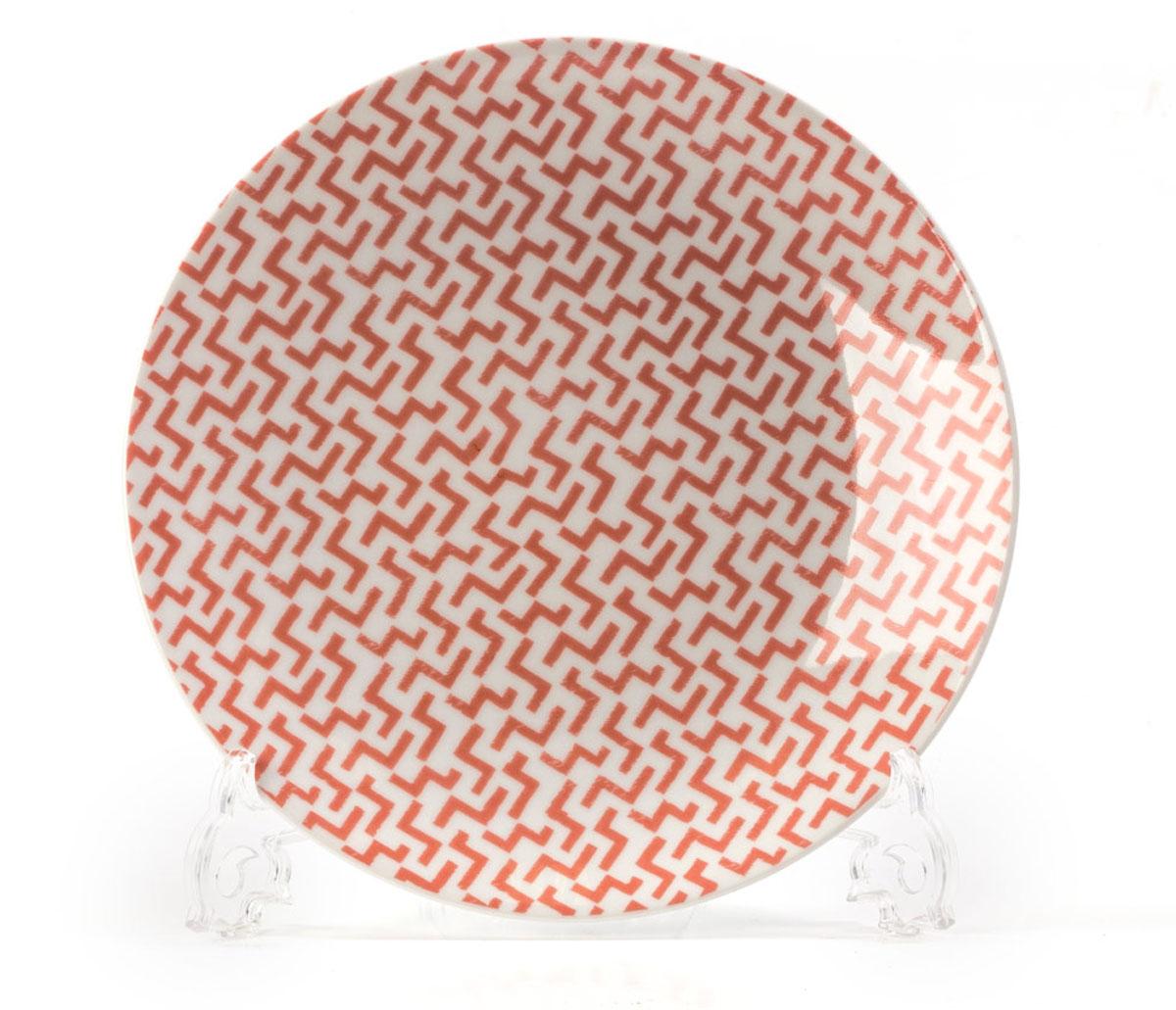 """Фото Тарелка La Rose des Sables """"Лабиринт"""", цвет: розовый, диаметр 21 см. Купить  в РФ"""