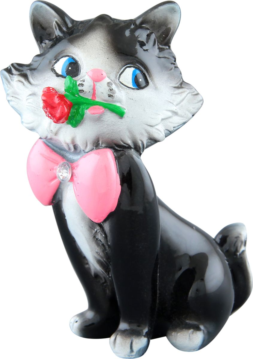 "Фото Фигурка декоративная Elan Gallery ""Влюбленный котенок Томас"", 6,3 х 5 х 9 см. Купить  в РФ"