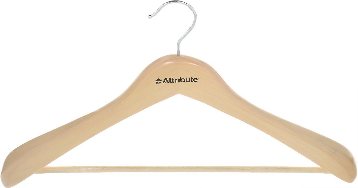 """Фото Вешалка для верхней одежды Attribute Hanger """"Classic"""", цвет: бежевый, длина 44 см. Купить  в РФ"""