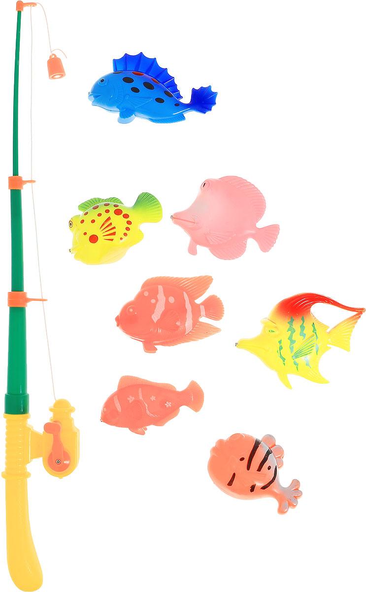 Фото Играем вместе Игрушка для ванной Рыбалка Кот Леопольд цвет удочки желтый зеленый. Купить  в РФ