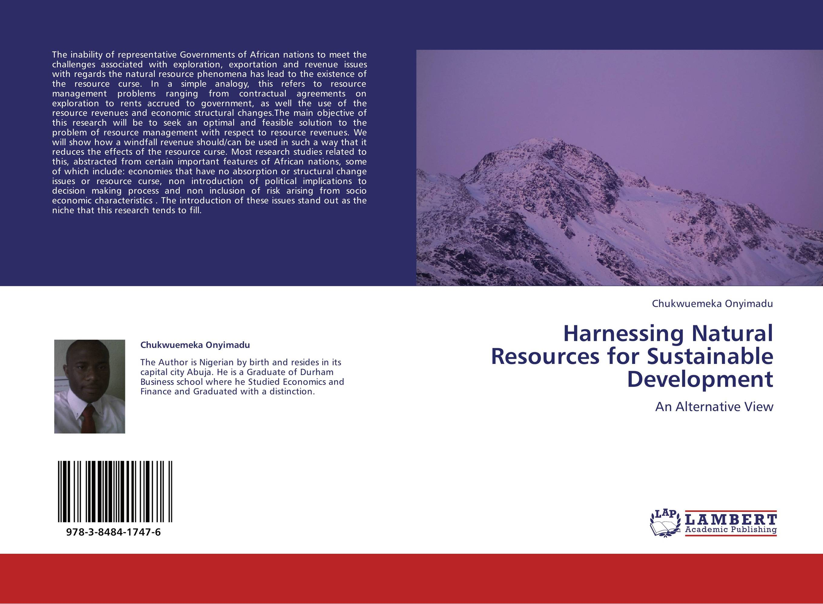 sustainable management of natural resources in nigeria essay Natural resource management focuses on the need of sustainable management of the earth's depleting natural resources such as clean water, energy, minerals and biological resources, in relation to the growth of the human population to answer these pressing issues, professionals need.