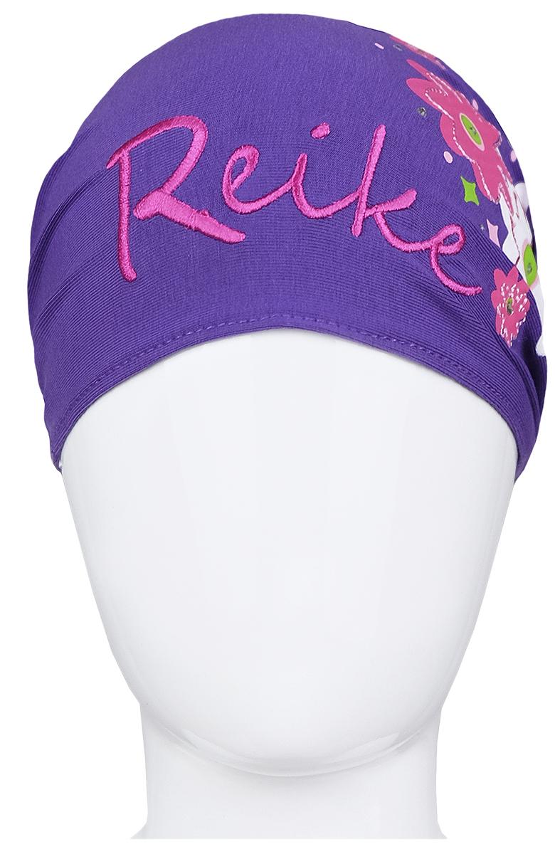 Фото Повязка на голову для девочки Reike Цветок, цвет: фиолетовый. RKNSS17-FLW3. Размер 52. Купить  в РФ