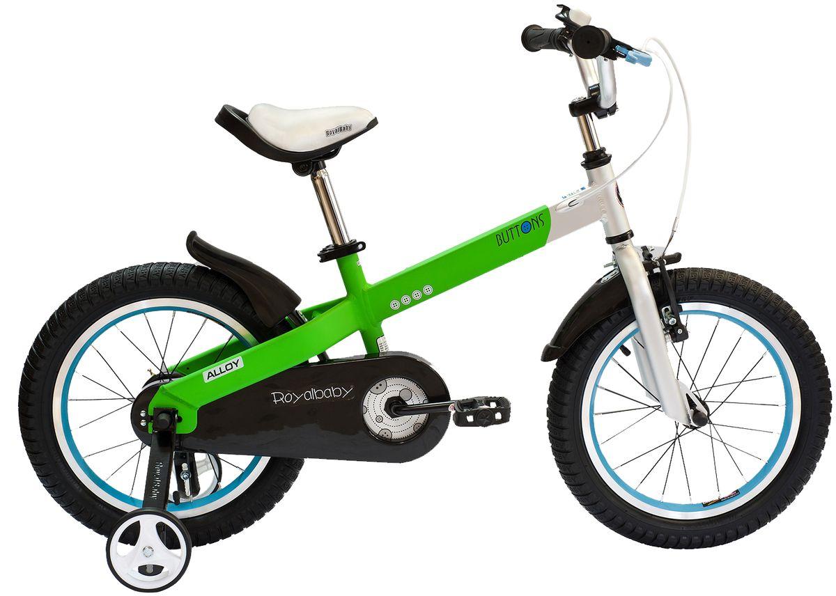 Велосипед детский Royal Baby  Buttons Alloy 16  , цвет: зеленый -  Детские велосипеды