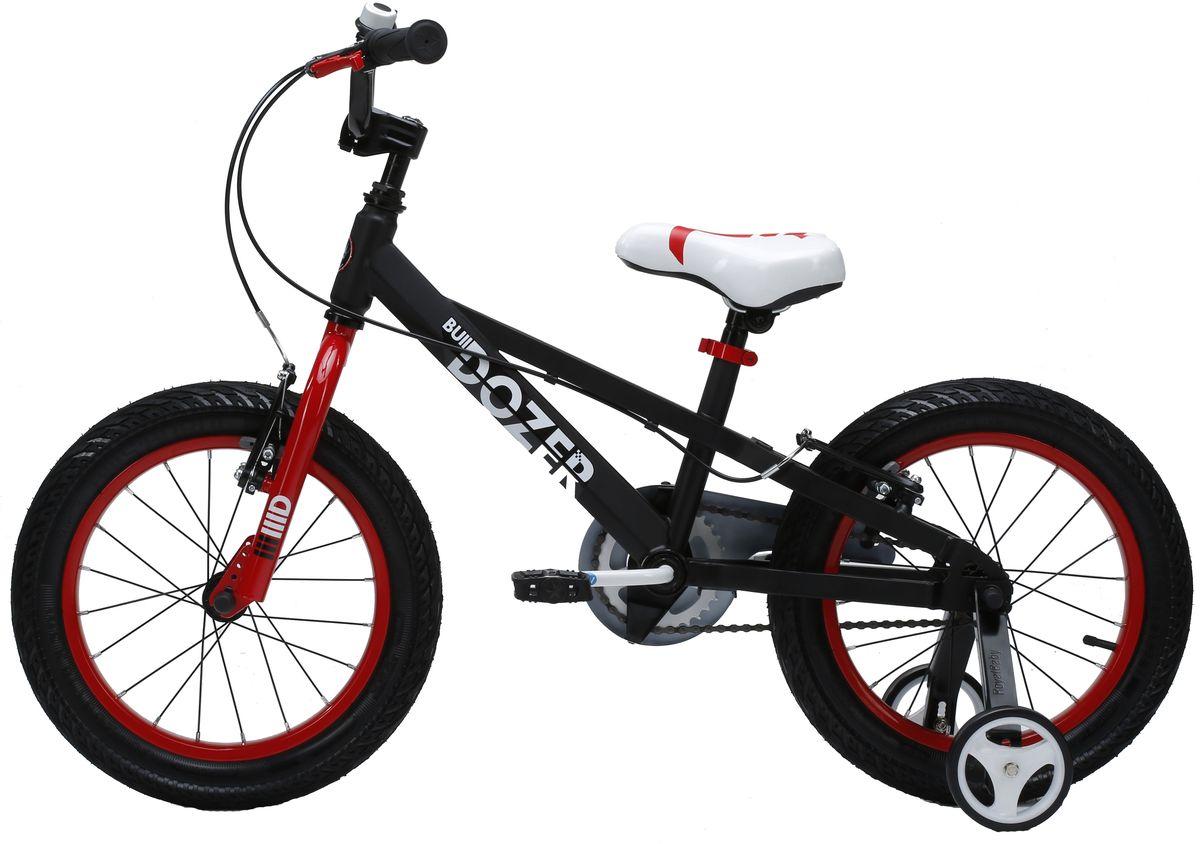 Велосипед детский Royal Baby  Bull Dozer 16  , цвет: черный -  Детские велосипеды