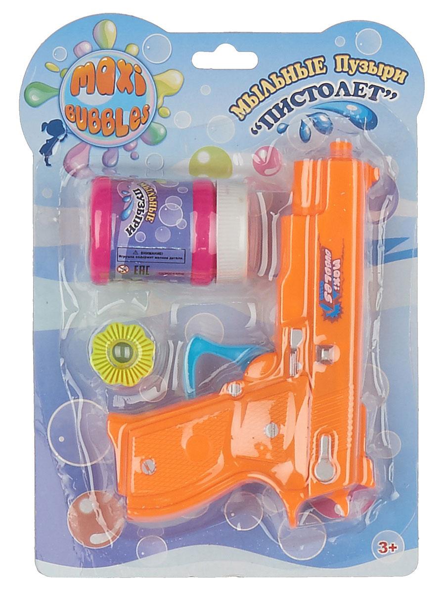 Maxi Bubbles Набор для пускания мыльных пузырей Пистолет цвет оранжевый -  Мыльные пузыри