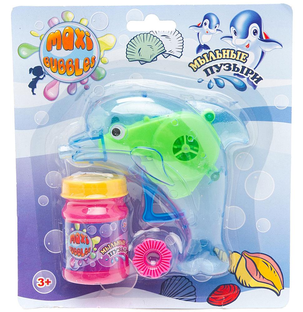 Maxi Bubbles Набор для пускания мыльных пузырей Дельфин цвет синий 45 мл -  Мыльные пузыри