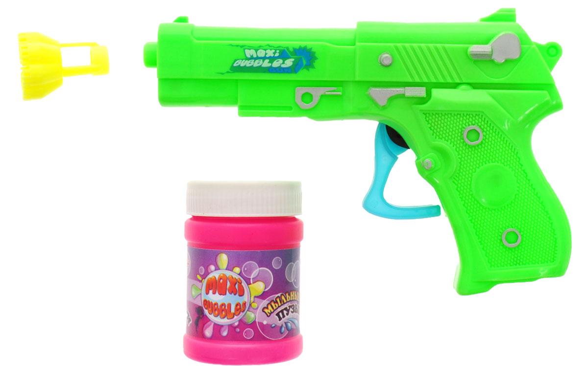 Maxi Bubbles Набор для пускания мыльных пузырей Пистолет цвет салатовый -  Мыльные пузыри